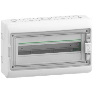 Coffret 1 rangée 18 modules - avec fond - IP65 - compatible XE - Resi9 SCHNEIDER