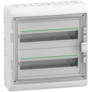 Coffret 2 rangées 18 modules - avec fond - IP65 - compatible XE - Resi9 SCHNEIDER