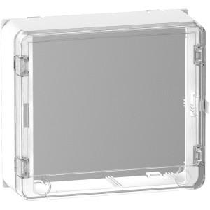 Habillage + porte styl transparente 13M - panneau de contrôle - bloc de commande SCHNEIDER