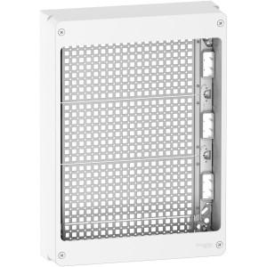 Coffret 18 modules 3 rangées universel équipé de grilles - sans rail din - Schneider Resi9 SCHNEIDER