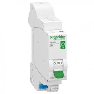 Disjoncteur 10A 1P+N courbe D - embrochable - Resi9 XE SCHNEIDER