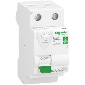 Interrupteur différentiel 63A 2P 30mA - Type Fsi - embrochable - Resi9 XE SCHNEIDER