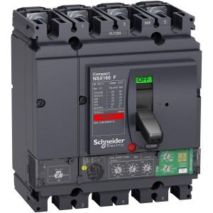 Disjoncteur différentiel compact NSX160F Vigi 160A 4P 4D 36kA - Micrologic 4.2 SCHNEIDER