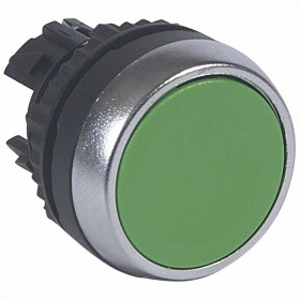 Tête pousser-pousser affleurante non lumineuse IP69 Osmoz composable - vert LEGRAND