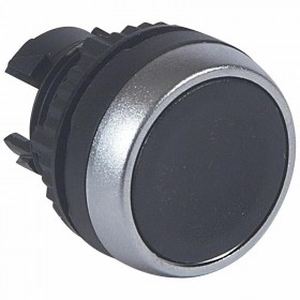 Tête pousser-pousser affleurante non lumineuse IP69 Osmoz composable - noir LEGRAND