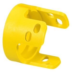 Collerette de garde pour coup de poing Ø40 pousser-tourner et pousser-tirer Osmoz - jaune LEGRAND
