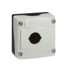 Boîte à boutons vide Osmoz 1 trou - gris LEGRAND