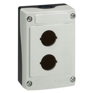Boîte à boutons vide Osmoz 2 trous - gris LEGRAND