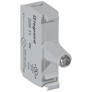 Bloc pour tête lumineuse Osmoz raccordement à vis - 12V à 24V alternatif ou continu - rouge LEGRAND