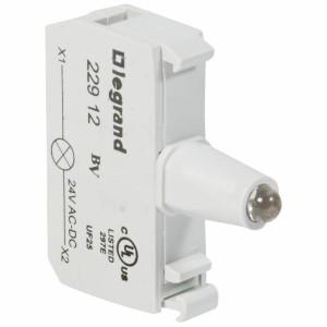 Bloc pour tête lumineuse Osmoz raccordement à vis - 12V à 24V alternatif ou continu - vert LEGRAND