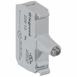 Bloc pour tête lumineuse Osmoz raccordement à vis - 12V à 24V alternatif ou continu - bleu LEGRAND