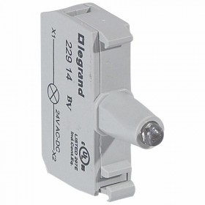 Bloc pour tête lumineuse Osmoz raccordement à vis - 12V à 24V alternatif ou continu - jaune LEGRAND