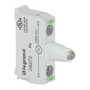 Bloc lumineux LEDs pour boîte à boutons - raccordement à vis - 230V - vert LEGRAND