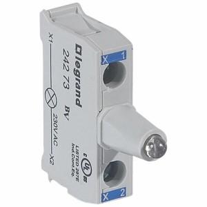 Bloc lumineux LEDs pour boîte à boutons - raccordement à vis - 230V - bleu LEGRAND