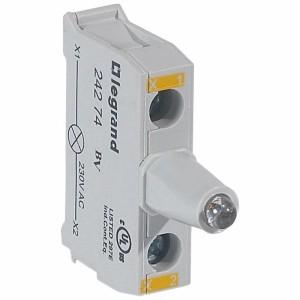Bloc lumineux LEDs pour boîte à boutons - raccordement à vis - 230V - jaune LEGRAND