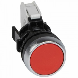 Bouton non lumineux à impulsion affleurant IP69 Osmoz complet - rouge LEGRAND