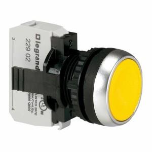Bouton non lumineux à impulsion affleurant IP69 Osmoz complet - jaune LEGRAND