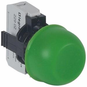 Bouton non lumineux à impulsion affleurant capuchonné IP67 Osmoz complet - vert LEGRAND