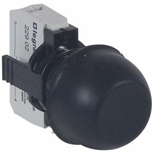 Bouton non lumineux à impulsion affleurant capuchonné IP67 Osmoz complet - noir LEGRAND
