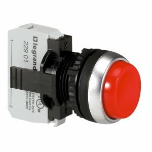 Bouton non lumineux à impulsion dépassant IP69 Osmoz complet Ø22 - rouge LEGRAND