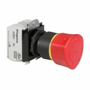 Coup de poing à accrochage non lumineux Osmoz complet IP69 Ø40 EN 418 - pousser-tourner LEGRAND
