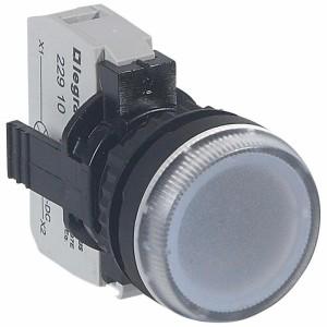 Voyant lumineux Osmoz complet IP69 blanc - 12V à 24V alternatif ou continu LEGRAND