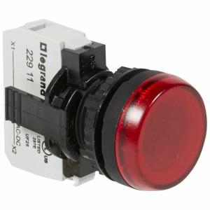 Voyant lumineux Osmoz complet IP69 rouge - 12V à 24V alternatif ou continu LEGRAND