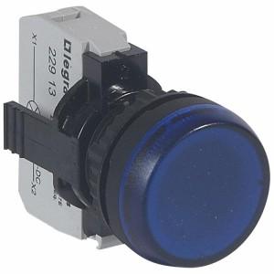 Voyant lumineux Osmoz complet IP69 bleu - 12V à 24V alternatif ou continu LEGRAND