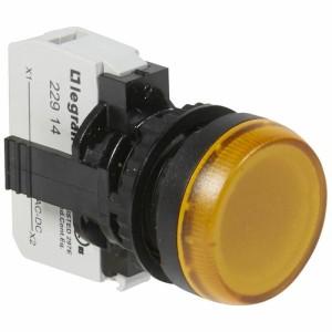Voyant lumineux Osmoz complet IP69 jaune - 12V à 24V alternatif ou continu LEGRAND