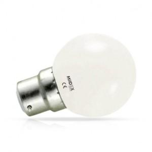 Ampoule LED B22 bulb 1W 3000°K VISION EL