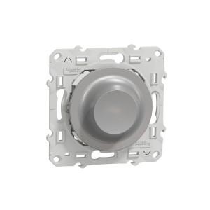 Variateur rotatif LED Odace Wiser 2fils - zigbee - alu SCHNEIDER