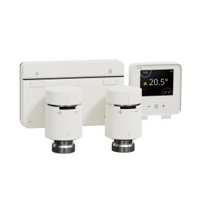 Kit chaudière vannes thermostatiques + passerelle + thermostat connecté SCHNEIDER