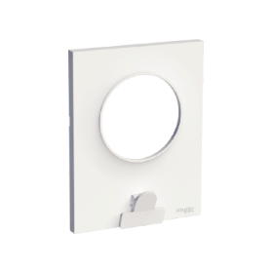 Odace Styl Pratic, plaque Blanc avec pince multi-usage 1 poste SCHNEIDER