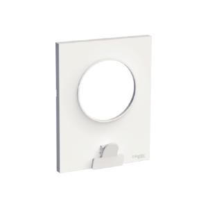 Plaque 1 poste avec pince multi-usage blanc, Odace Styl Pratic SCHNEIDER