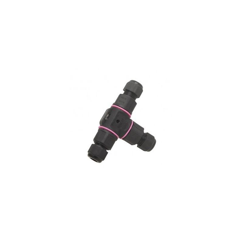 Connecteur étanche forme T IP68 450V noir 3 fils VISION EL