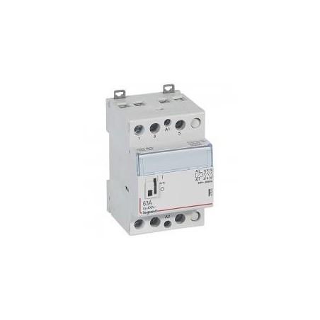 Contacteur de puissance bobine 230 V~ - 3P - 400 V~ - 63 A - 3F - 3 modules LEGRAND