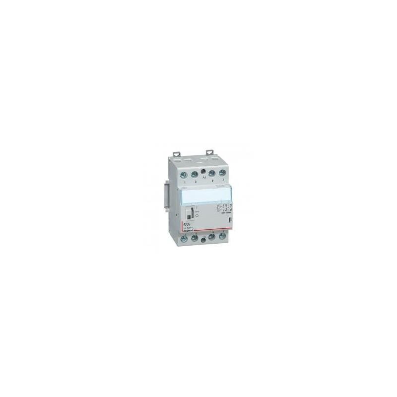 Contacteur de puissance bobine 230 V~ - 4P - 250 V~ - 63 A - 4F - 3 modules LEGRAND