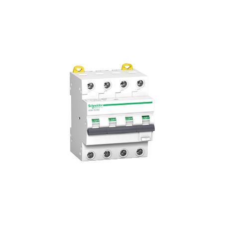 Disjoncteur différentiel - 4P - 10A - 30mA - Type AC - Acti9 iC60 RCBO SCHNEIDER