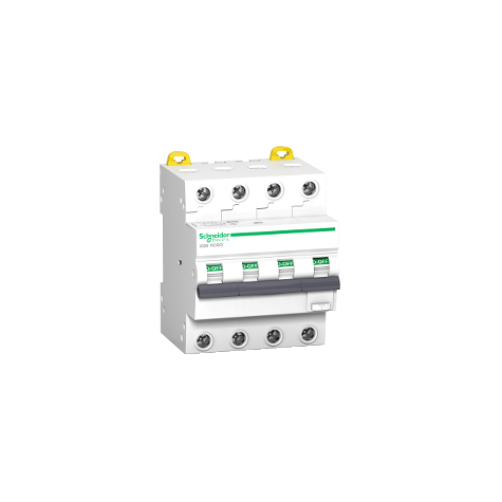 Disjoncteur différentiel 10A 4P 30mA - courbe C - Type ASi - Acti9 iC60 RCBO SCHNEIDER