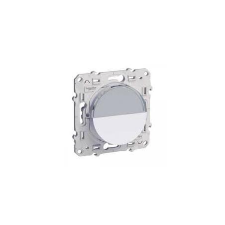 Odace - Bouton-poussoir blanc 10A avec porte-etiquette SCHNEIDER
