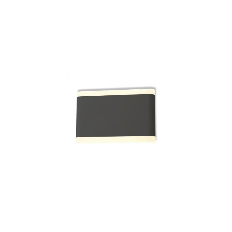 Applique murale LED 10W 3000°K rectangulaire - Gris anthracite VISION EL