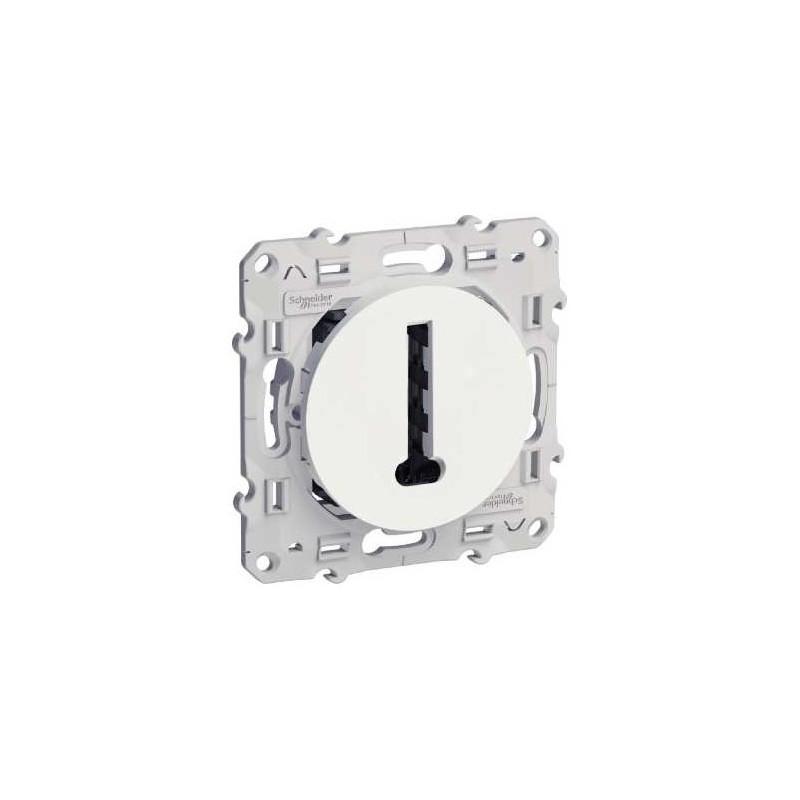 Conjoncteur en T blanc, 8 contacts à vis ODACE SCHNEIDER