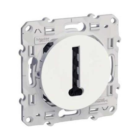 Conjoncteur en T, 8 contacts à vis, blanc, Odace SCHNEIDER