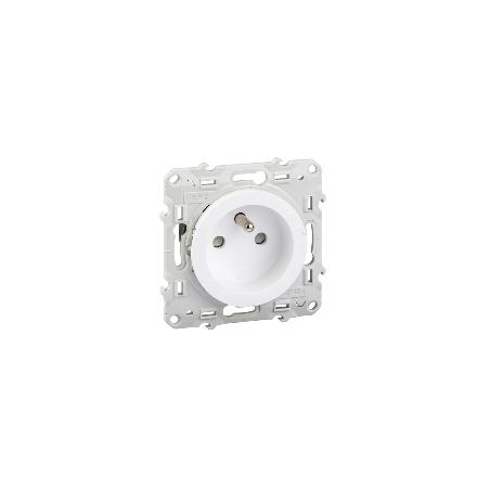 Prise de courant 2P+T blanc, à vis, 4 connexions rapides par pôle ODACE SCHNEIDER