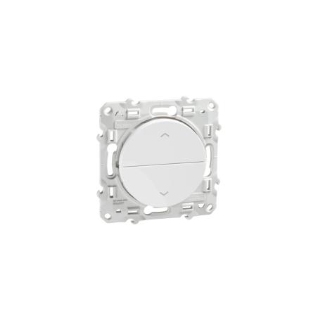 Poussoir Blanc, 2 boutons montée/descente pour volets-roulants ODACE SCHNEIDER