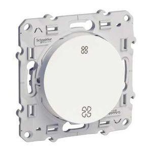 Interrupteur VMC blanc sans position arrêt vis ODACE SCHNEIDER