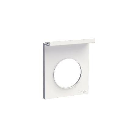 Odace Styl Pratic, plaque Blanc support téléphone mobile, 1 poste SCHNEIDER