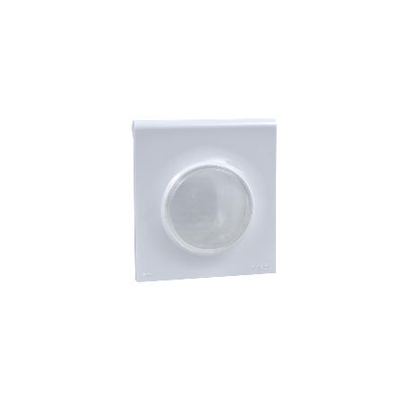 Plaque 1 poste avec couvercle souple translucide blanc IP44, Odace Styl Pratic SCHNEIDER