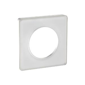 Odace Touch, plaque Translucide Blanc 1 poste SCHNEIDER