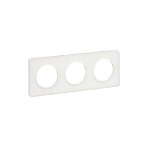 Odace Touch, plaque Translucide Blanc 3 postes horiz./vert. entraxe 71mm SCHNEIDER
